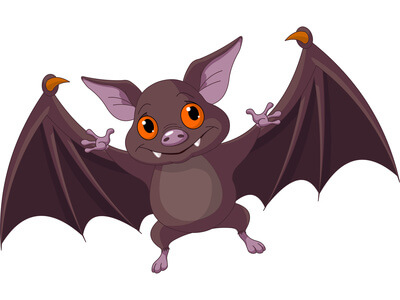 flying bat Halloween