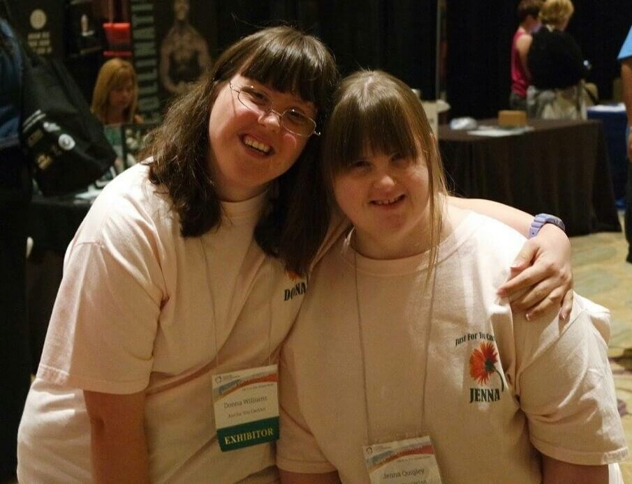 Jenna and her friend Donna at the National Down Syndrome Congress Convention.