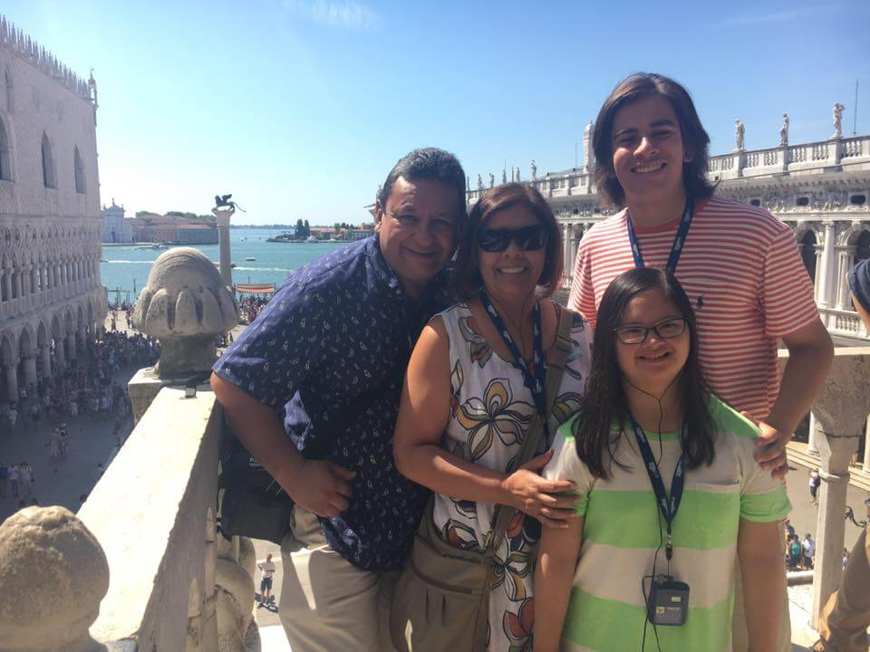 Marina and her family in Italy.